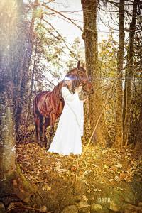 Linda Dähler und Ihr Pferd